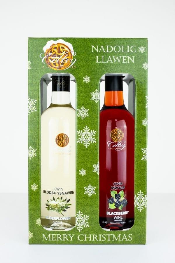 Wine Christmas Packaging.Christmas Wine Gift Pack