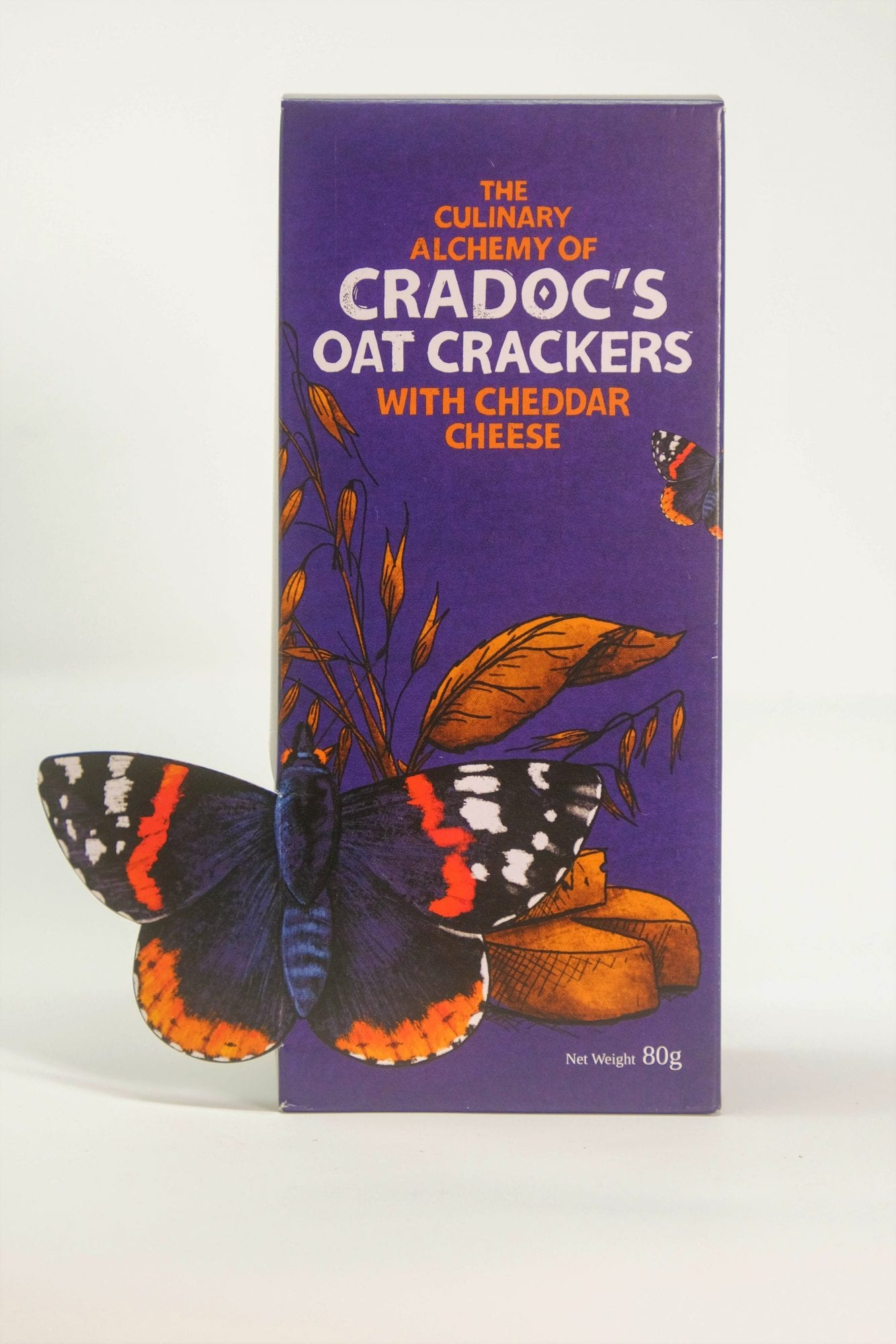 Cradoc's Oat Crackers with Cheddar Cheese